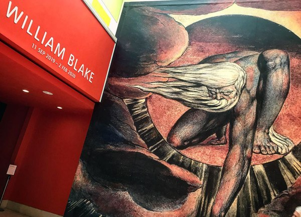William Blake at Tate Britain exhibition entrance