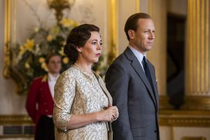 The Crown - Olivia Colman and Tobias Menzies