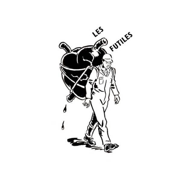 Les Futiles - Black Heart EP - art work